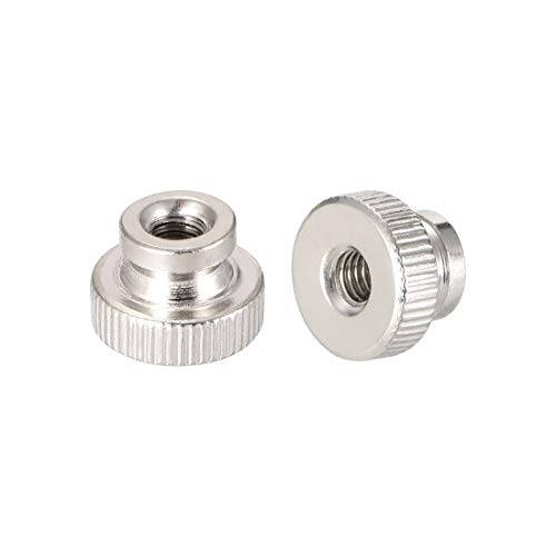 uxcell Knurled Thumb Nuts, M4 Round Knobs with, Nickel Plating, Pack of 20