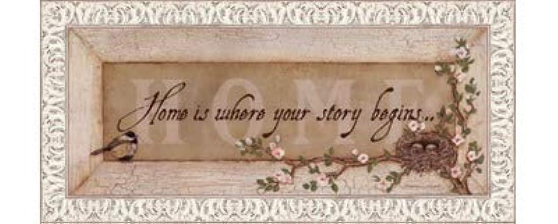 反論ジェット電極Home Is Where Your Story Begins by Stephanie Marrott?–?20?x 8インチ?–?アートプリントポスター LE_211814-F9711-20x8