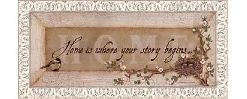 単語退化する強度Home Is Where Your Story Begins by Stephanie Marrott?–?20?x 8インチ?–?アートプリントポスター LE_211814-F9711-20x8