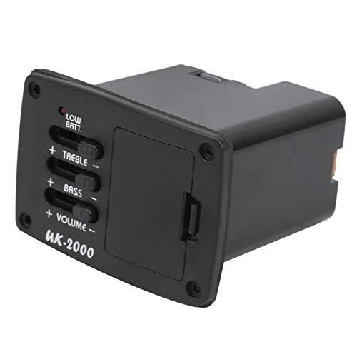 Pastilla de guitarra pastilla de sonido de ukelele bajo ± 12 dB, voz alto ± 12 dB, respuesta de frecuencia de 20 Hz a 20 kHz, impedancia de entrada de 22 MΩ ecualizador accesorios para instrum