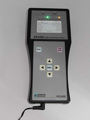 KURTH ELECTRONIC MODELL KE 3400 x DSL Multi Performance Tester ADSL VDSL 2 Annex A Annex B
