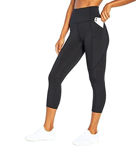 Marika Carson Damen Capri-Leggings mit hoher Taille, Damen, Caprihose, Carson High Rise Pocket Legging, schwarz, Small