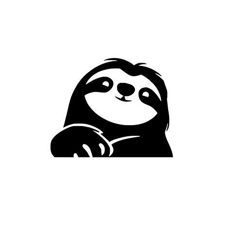 Sloth NOK Decal Vinyl Sticker |Cars Trucks Vans Walls Laptop|Black|5.5 x 4.5 in|NOK372