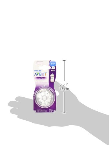 PhilipsAVENTフィリップスAVENTナチュラル乳首MediumFlow普通の流2個並行輸入品