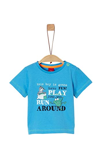 s.Oliver Junior Baby-Jungen 405.10.004.12.130.2038003 T-Shirt, 6431 Light Blue, 80
