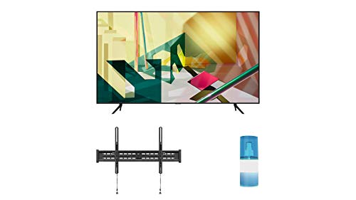 """Samsung QN55Q70TA 55"""" 4K Ultra High Definition Dual LED QLED TV with a Walts TV Large/Extra Large Tilt Mount for 43""""-90"""" Compatible TV's and a Walts HDTV Screen Cleaner Kit (2020)"""