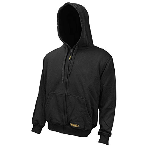 DEWALT DCHJ067B-L 20-Volt/12-Volt Max Bare Heated Hoodie, Large, Black