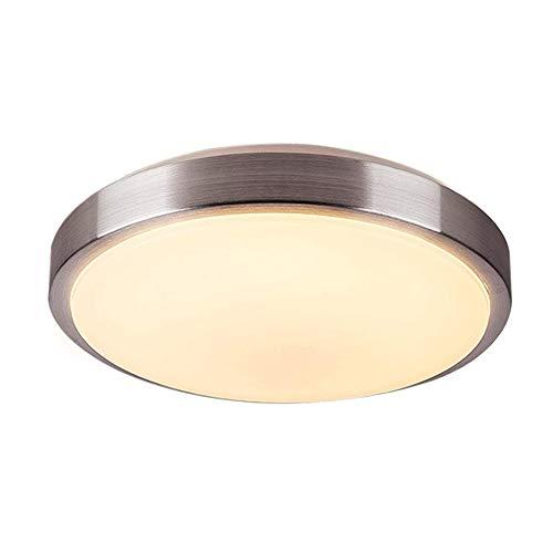 ZHMA LED Deckenleuchte, Balkonleuchte, Balkonlicht, Badezimmerleuchte, Badezimmerlampe, Innenleuchte, Außenleuchte, IP54 spritzwassergeschützt, Warmweiß, Ø23cm, 120° Abstrahlwinkel