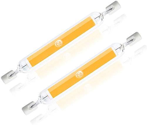 2 lampadine LED R7S in vetro COB, 118 mm, 13 W, R7S, lampadina alogena J118, sostituisce lampadine da 130 W, AC 220 V, 240 V, (bianco caldo, 13 W)