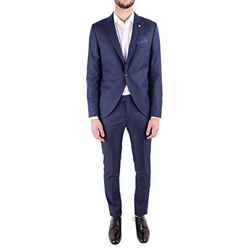 MANUEL RITZ Luxury Fashion Herren 2430A335918305288 Blau Polyester Anzuge | Jahreszeit Outlet