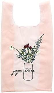 TOOGOO New Lightweight Mesh Bag Translucent Rose Embroidery Shopping Bag White