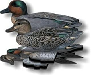 Green Wing Teal Decoy - 6-Pack Foldable Green Wing Teal for hunting - Land and Water Use - Waterproof, Shot-Proof - Realistic UV Decoy Paints - Includes Anchors, Anchor String and Fudslinger