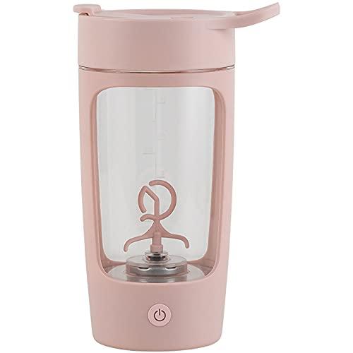 WANZPITS Taza de mezcla eléctrica, taza de mezcla, regalo creativo portátil taza de agua, taza de mezcla eléctrica portátil, rosa, 650 ml