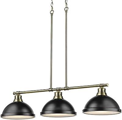 Amazon.com: Golden Lighting 3602-3LP AB-GY - Colgante con ...