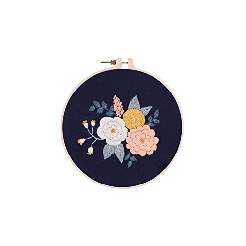 Hobbies Adults| Lowers Embroidery Ribbon Set Beginners with Embroidery Shed Sewing Kit Cross-Stitch Crafts Hand-Stitched Decoration 30 * 30cm-B-30 * 30cm