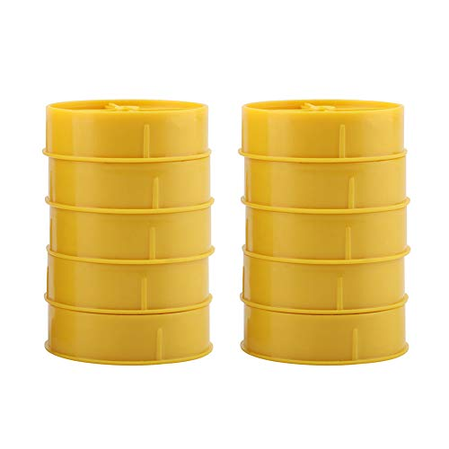 Fdit 10 piezas de plástico de colmenas para puertas de abejas, nido de abeja, disco de entrada redonda, herramientas de equipo de apicultura