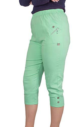 Fenside Country Kleding Dames Comfort Fit Stretch 3/4 Lengte Capri Crop Broek Elastische Taille Zomer Cargo Broek