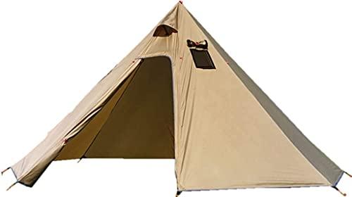 6人用 ワンポールテント 高さ220センチ 換気窓あり テント 軽量 キャンプテント210T PU3000MM 簡単設営 防水 内料理・焚火可