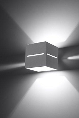 Bauhaus Wandleuchte (Bauhaus, Weiß, Rechteckiger Schirm) Innenlampe Hotelleuchte Flurleuchte Wandlampe