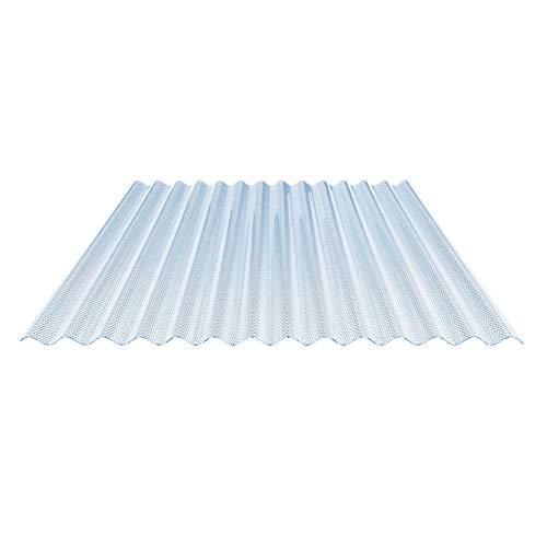 Lichtplatte | Wellplatte | Lichtwellplatte | Material Acrylglas | Profil 76/18 | Breite 1045 mm | Stärke 3,0 mm | Farbe Lichtblau | Wabenstruktur