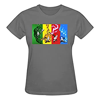 Fire-Castle-Crashers T-Shirt Cotton Breathable Tee Shirt Round Neck Comfortable Shirts Women Girls Short Sleeve Tops Large Gray