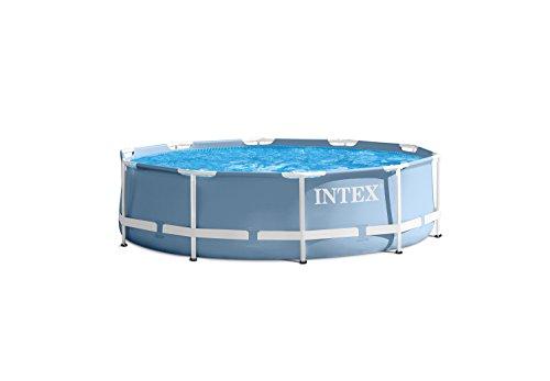 Intex Prism Frame Pool - Aufstellpool - Ø 366 x 76 cm - Mit Filteranlage - 12V