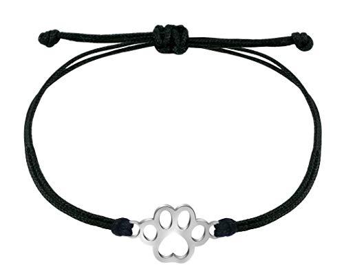 Nuoli® Armband Pfote Silber (deutsche Handarbeit) Anhänger Tatze Katze oder Hund