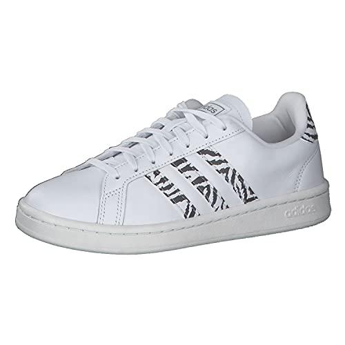 adidas Grand Court, Zapatillas Deportivas Mujer, FTWBLA/FTWBLA/Balcri, 41 1/3 EU