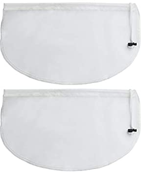 2-Pack Greek Yogurt Maker Strainer Pouch Bag 16-in x 9-in Multi-Purpose Reusable Fine Mesh Nut Milk Bag Cold Brew Coffee Filter Bags Cheese Cloth for Straining Compatible Instant Pot Accessories