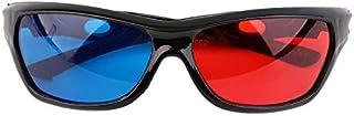 Tumdem 次元アナグリフ映画ゲームDVDビデオTVのための普遍的な3Dガラスの黒フレームの赤く青い3D Visoinガラス