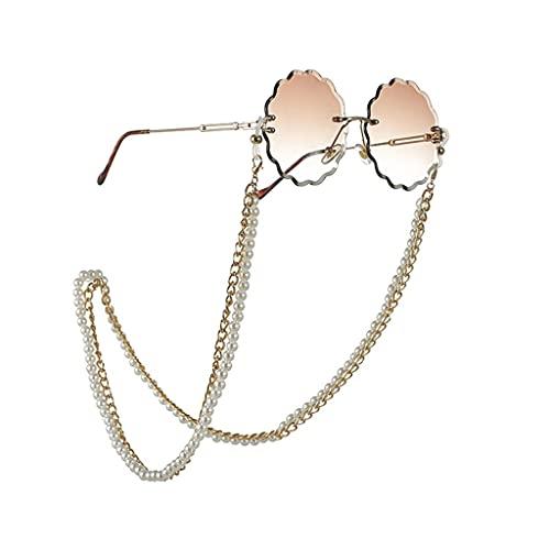 YLQGS Multi-Layer Pearl Glasses Chain Lanyard for Glasses Glasses Strap Sunglasses Cords Casual Glasses Accessories (Color : A, Size : Length-70CM)