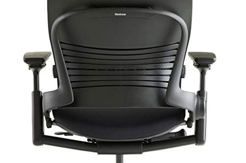 Steelcase Leap Fabric Chair, Black, -