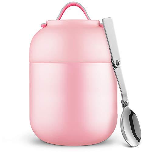 Thermobehälter Lunchbox 700ml | Edelstahl Isolierbehälter Gefäß für warme Speißen, Essen, Babynahrung, Suppe, Obst | Behälter Box für Baby | Speisegefäß | Thermogefäß |