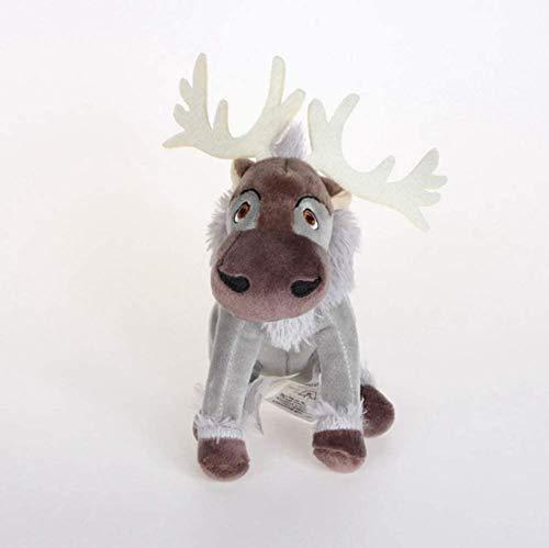 N/D Stuffed Toy Kawaii Anime Sven Reindeer Kristoff Friend Svee Solf Stuffed Plush Doll Toys for Kids 20Cm
