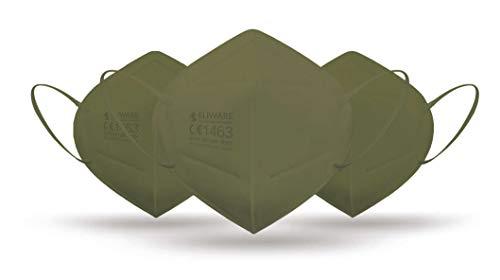 CE zertifizierte - nach EN149:2001+A1:2009 geprüfte Einweg FFP2 NR Atemschutzmaske - Grün - 5er Packung