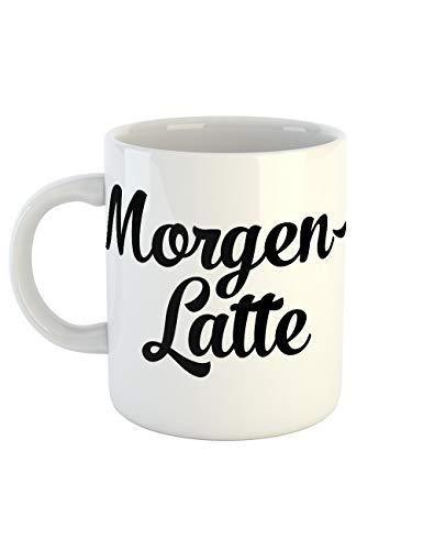 clothinx Kaffeetasse mit Aufdruck Morgenlatte