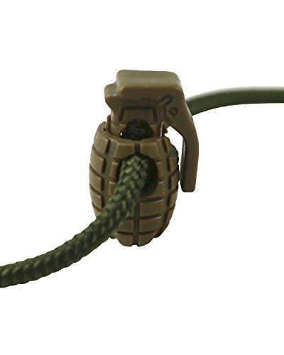 Kombat Tactical marrón granada Cable tapones 8por paquete