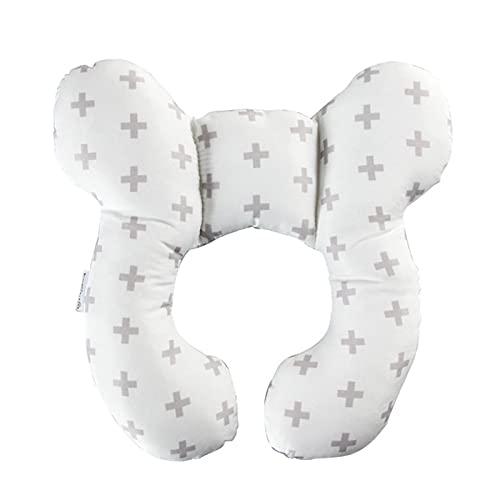 Almohada en forma de U para bebé, almohada de apoyo para el cuello, almohada de viaje para bebé, almohada de protección para el cuello, suave, transpirable, cómoda para silla de coche