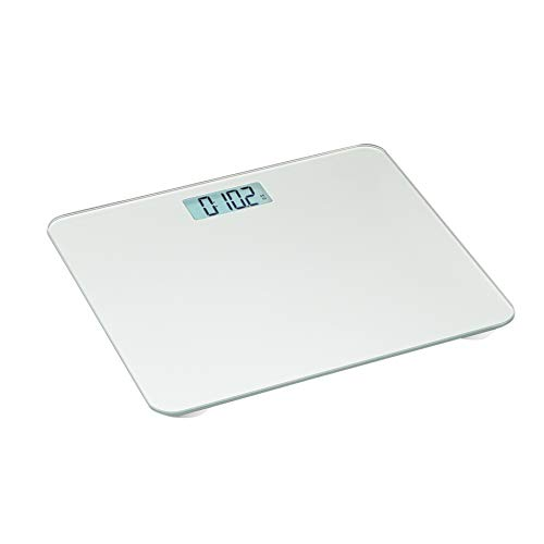 Amazon Basics Body Weight Scale - Auto On/Off Function, Silver