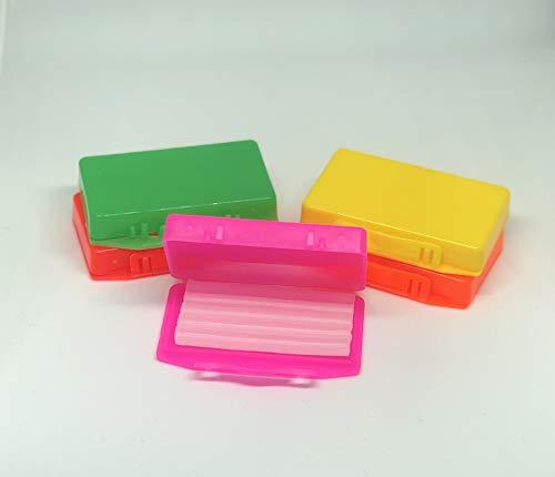 Zahnspangen Wachs 5er Box 5x5 Stangen mit Geschmack – hochwertiges Wachs für Zahnspangenträger - Zahnwachs Schutzwachs - Banane, Ananas, Minze, Erdbeere, Apfel