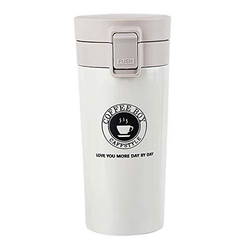Kikier 380ml Draagbare Isolaat Waterfles RVS Stofzuiger Fles Buiten Geïsoleerde Tumbler, 17.5 * 7.9 * 7.9cm, Kleur: wit