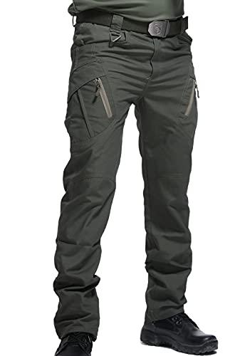 AIEOE Pantalones Impermeables Hombre de Senderismo Cargo Tácticos Pantalones de...