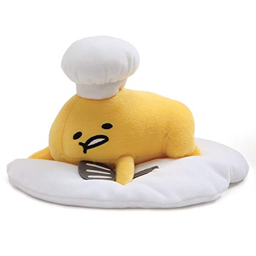 "GUND Gudetama ""Lazy Chef Egg with Hat and Spatula"" Stuffed Animal Plush, 7.5'"