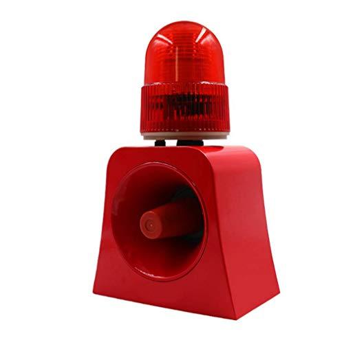 GFPR Feuerwehr Sound- und Lichtalarm Alarmform 220V Sicherheitsstimmspitze 12V24V Lautsprecher...