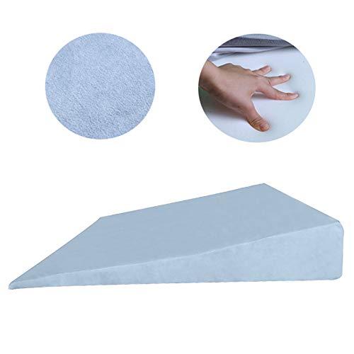 Almohadilla de la cuña de Soporte y elevar Cuello, Cabeza y Espalda para el reflujo ácido o los pies y Las piernas para Reducir el Dolor de Espalda, Cubierta extraíble,D,60×10×60cm