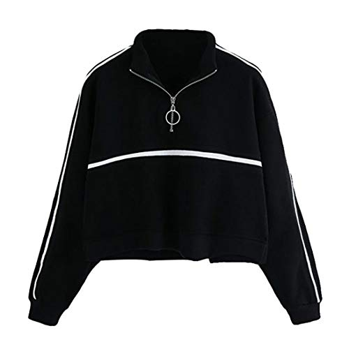 Overdose Sudadera Casual Womens Long Sleeve Sweatshirt Jumper Pullover Strapless Blusa Top Lady Tops