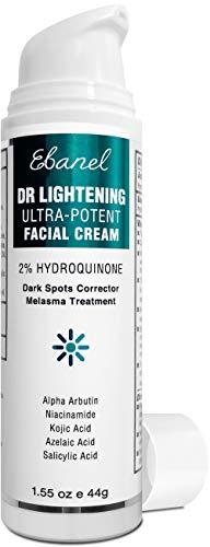 2% Hydroquinone Dark Spot Corrector Whitening Cream, Skin Bleaching Cream Lightening Cream Hyperpigmentation Melasma Treatment with Kojic Acid, Alpha Arbutin, Salicylic Acid, Niacinamide, Azelaic Acid
