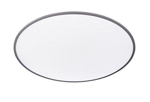 WOFI Deckenleuchte, Aluminium, Integriert, 62 W, Silber, 100 x 100 x 50 cm
