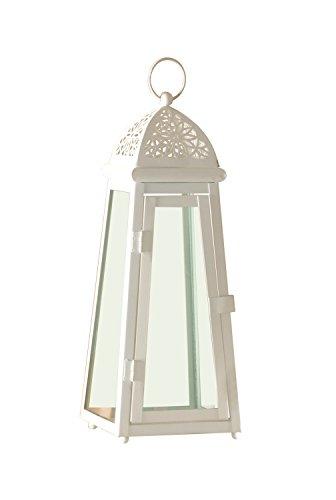 Brandani Lanterna Cattedrale Media Metallo Vetro Colore Panna