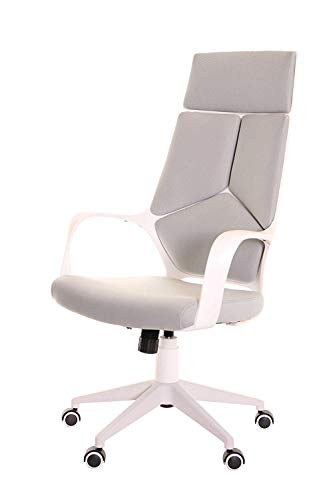 TimeOffice Ergonomic White And Grey Office Chair